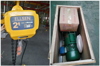 Ellsen low headroom and wire roep hoist exported into Saudi and South Africa