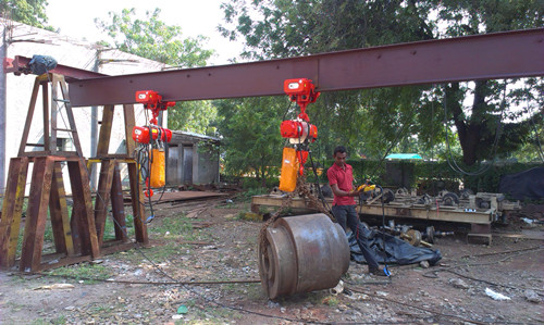 Ellsen well build electric chain hoist used in South Africa